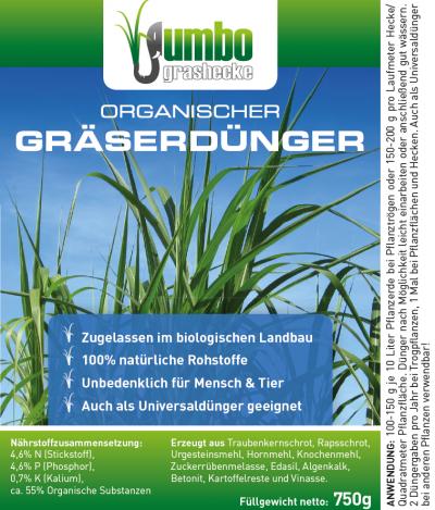 Ökodünger, Biodünger für Gräser
